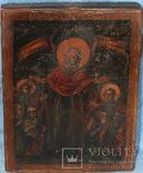 """Икона  """"Всех СкорбящихРадость""""  18 век, серебряный оклад, фото №5"""