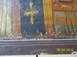 Святий Миколай /картина 18 ст/темпера/ домоткане полотно Поділля, фото №4