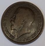 Велика Британія 1 пенні, 1918