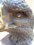 Голова белоголового орла бронза мрамор Европа 3,88 кг