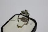 Золотое кольцо с бриллиантами в ретро стиле Арт-Деко, фото №4
