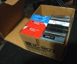 Аудиокассеты разные в упаковке и запайке 13 шт