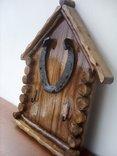Авторская ключница «Счастливый Теремок» из натурального дерева., фото №4