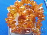 Бусы янтарные №7 вес 33 грамм Янтарь бурштин, фото №6