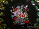 Настенная декоративная тарелка. чёрная глазурь Европа, фото №4
