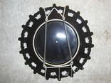 Настенная декоративная тарелка. чёрная глазурь Европа, фото №5