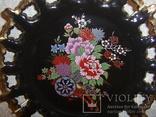 Настенная декоративная тарелка. чёрная глазурь Европа, фото №6