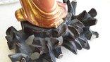 Статуэтка старинная Китай дерево,краска,сусальное золото, фото №11