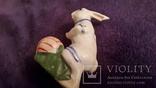 Фигурка зайца, клеймо Городница, фото №4