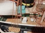 Деревянная модель парусного корабля, фото №2