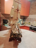 Деревянная модель парусного корабля, фото №5