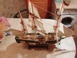 Деревянная модель парусного корабля, фото №7