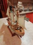 Модель деревянного парусного корабля, фото №4