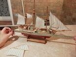 Модель деревянного парусного корабля, фото №6