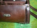 Сумочка-саквояжик винтажная кожаная, фото №10