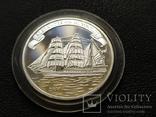 Острова Кука 2008 Корабль парусник серебро, фото №2