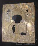 Рельефный латунный оклад на Николая 22х26,5см., фото №2