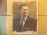 Портрет М. Горького.  46,5х37см. Высокохудожественный., фото №8
