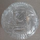Шкатулка(ваза) хрустальная с крышкой.Чехословакия, фото №4