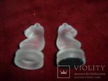 Комплект стеклянных шахмат со стеклянной доской  Англия в родной упаковке, фото №7