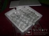 Комплект стеклянных шахмат со стеклянной доской  Англия в родной упаковке, фото №9