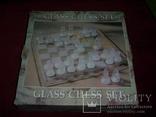 Комплект стеклянных шахмат со стеклянной доской  Англия в родной упаковке, фото №11