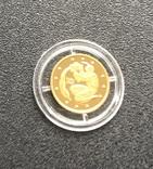 2 гривні 2007 рік. Водолій. Золото 1,24 грам № 0007877, фото №4