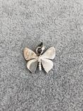 Серебряная подвеска Бабочка в эмалях (серебро 925 пр, вес 3 гр), фото №6