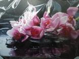 Картина Цветы на чёрном фоне 78*58 см фото 2