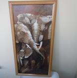 Картина Слоны 75*38 см