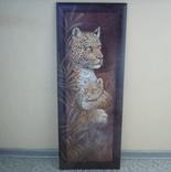 Картина Леопарды 98*38 см