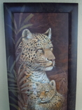 Картина Леопарды 98*38 см фото 3