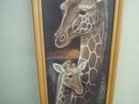 Картина Жирафы 97,5*36,5 см фото 3