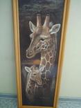 Картина Жирафы 97,5*36,5 см фото 7