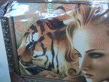 Картина Девушка и Тигр Гобелен 63*45 см фото 3