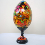 Большое яйцо ручная роспись