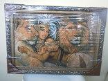 Картина Восточная красавица и Львы Гобелен 63*45 см