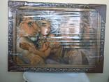Картина Восточная красавица и Львы Гобелен 63*45 см фото 2