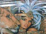 Картина Восточная красавица и Львы Гобелен 63*45 см фото 4