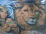 Картина Восточная красавица и Львы Гобелен 63*45 см фото 5