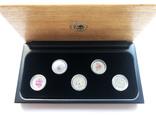 Набор монет цветы Австралии 5 шт, платина. 1/10 oz, фото №2