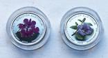 Набор монет цветы Австралии 5 шт, платина. 1/10 oz, фото №6