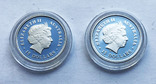Набор монет цветы Австралии 5 шт, платина. 1/10 oz, фото №7