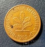 Германия (ФРГ) 2 пфеннига 1989 (G), фото №3
