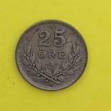 Швеція 25 ере, 1937. Срібло., фото №2