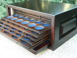 Мюнцкабинет для габаритних монет + бокс (280+ ложементів діам.30-65мм.)), фото №11