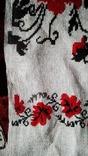 Старинный полотняный вышитый рушник, фото №6