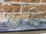 Стекляные Лебеди - 4 шт + Роза, фото №7