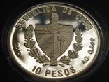Куба 1997 10 песо Корабль парусник серебро, фото №3
