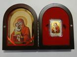 Почаевская Икона Божией Матери - серебро, позолота, кристаллы Сваровски, фото №4